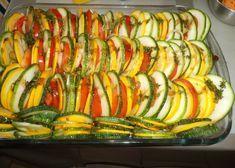 Tian de légumes, d'après Cyril Lignac Potato Side Dishes, Ratatouille, Agriculture, Coco, Barbecue, Vegan Recipes, Food And Drink, Menu, Nutrition