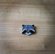 Stained Glass Raccoon pin