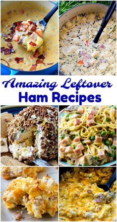 Did you bake a huge holiday ham and now you have tons of leftovers? Whether it be leftover Easter ham or Christmas ham, these recipes will breathe new life into it. Leftover Honey Baked Ham Recipe, Recipe For Canned Ham, Recipes With Cooked Ham, Honey Ham Recipe, Recipes Using Ham, Leftover Ham Recipes, Honey Recipes, Spicy Recipes, Cooking Recipes