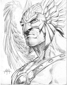 Hawkman black & white! Coloring pages. Thanagarian