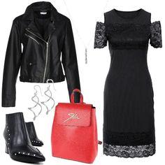 Rock con pizzo e borchie  outfit donna Rock per tutti i giorni  ef05312d87d