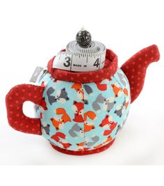 Pincushion-Teapot With Tape Measure Fox