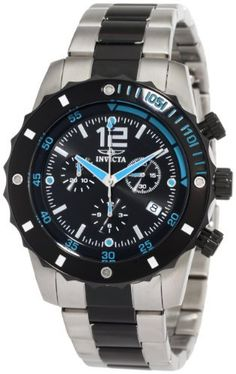 Invicta Men's 1247 II Collection Chronograph Black Dial Stainless Steel Watch Invicta. $129.99. Water-resistant to 100 M (330 feet). Chronograph functions with 60 second, 30 minute and 12 hour subdials; Date function. Swiss Quartz movement. Black dial with silver tone and blue hands, hour markers and arabic numerals; Black ion-plated stainless steel unidirectional bezel, crown and pushers. Flame fusion crystal; Brushed and polished stainless steel case and bracelet with bla...