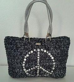 Tasche Designer Bag Damentasche Borsa Trapillo Exlusiv 100% Handarbeit