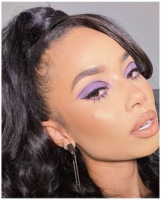 Purple Eyeshadow Looks, Purple Makeup Looks, Purple Eye Makeup, Edgy Makeup, Makeup Eye Looks, Colorful Eye Makeup, Eye Makeup Art, Cute Makeup, Pretty Makeup