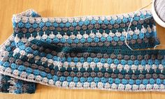 Larksfoot stitch - love this pattern and the colors...will have to learn this stitch
