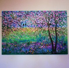 Large oil Paintings Original contemporary  by jeanvadalsmith, $329.00