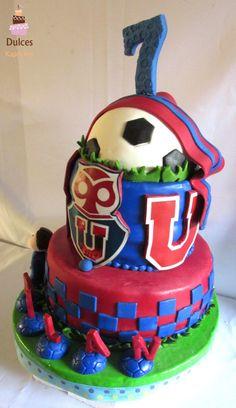 Torta Fútbol Club Universidad de Chile #TortaFutbol #TortaUniversidadDeChile #TortasDecoradas  #DulcesKaprichos