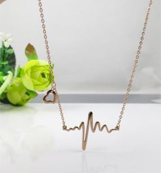 heart beat necklaceheartbeat necklaceheart by YourColorfulDays, $12.00