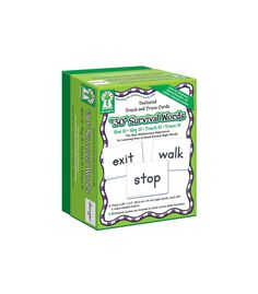 """Textured Touch and Trace Cards: """"30"""" Survival Words Manipulative"""