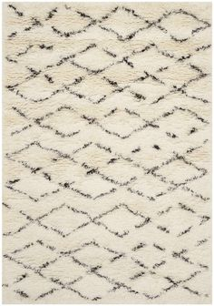Casablanca White/Brown Area Rug
