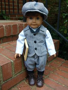 Gilbert Blythe outfit for AG doll boydollclothes American Boy Doll, American Doll Clothes, Boy Doll Clothes, Doll Clothes Patterns, American Girl Hairstyles, Lucy Fashion, Girl Dolls, Ag Dolls, Cartoon Outfits