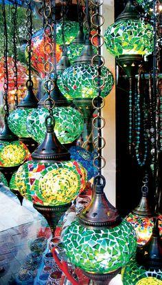 Mosaic chandeliers illuminating the streets of Turkey. #LiveIntrepid