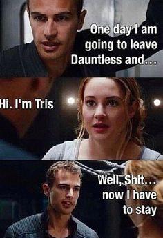 Cuatro se quiere ir hasta que encuentra a Tris y encuentra el porque quedarse