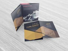 X Five Panel Accordion Fold Brochure Mockups  Accordion Fold