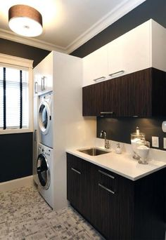 20 laundry room cabinets with small space ideas 20 Laundry Room Design with Small Space Solutions Laundry Room Cabinets, Laundry Room Storage, Laundry In Bathroom, Storage Spaces, Ikea Laundry, Basement Laundry, Kitchen Cabinets, Laminate Cabinets, Laundry Decor
