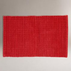 One of my favorite discoveries at WorldMarket.com: Chunky Woven Cotton Rug, Red
