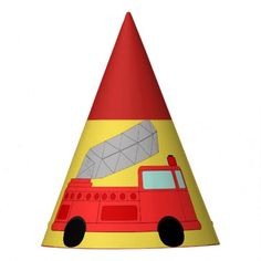 Firefighter Party Hat  firefighter women, firefighter couple, firefighter humor funny #firedepartment #firefighterfitness #fireservice Firefighter Humor, Firefighter Pictures, Firefighter Gifts, Fireman Party, Kids Birthday Party Invitations, Birthday Parties, Childrens Party, Party Hats, Art For Kids