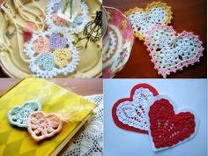 Free crochet patterns and video tutorials: crochet hearts free pattern symbol diagrams