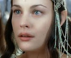 "Liv Tyler as Arwen Undomiel (Evenstar) of Rivendell. Immortal, half-elven. Arwen means ""noble maiden"""