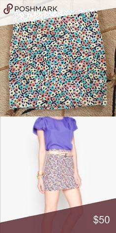 BCBGeneration miniskirt Floral print stretchy mini skirt in great condition BCBGeneration Skirts Mini