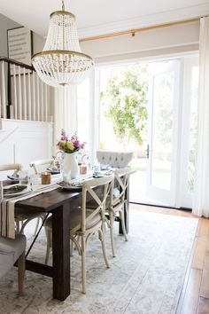 Styled for Spring Dining Room - A Thoughtful Place