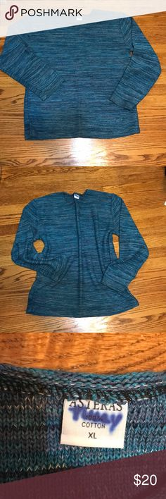 Cozy boxy turquoise knit sweatshirt. Oh this used to be my favorite. It's so cozy. Perfect to layer over whatever you're wearing in the fall and winter. I bought this abroad in South America and it is great quality. I hope you love! Perfect condition! Urban Outfitters Tops Sweatshirts & Hoodies