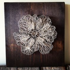 12in x 12in Floral anemone string art wall decor by RambleandRoost, $75.00