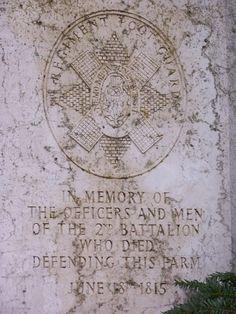 British Memorial Plaque at Hougoumont