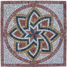 Rosace en marbre et pierre naturelle Florium Rosso - FLORIUMROSSO - Revêtement sol et mur