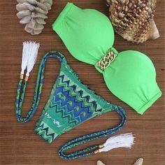 Women's Brazilian Push-Up Sexy 2-PC Bikini Bathing Suit S-L 4 Colors