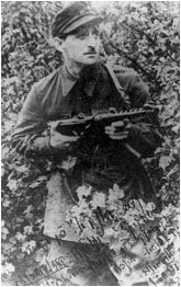 Jerachmiel Berman, a Jewish member of the Lithuanian underground, photographed in the Kovno Ghetto.