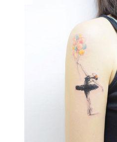 Balloon carrying ballerina by Banul