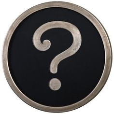 "Uttermost Question Mark Silver 30"" Round Wall Art 