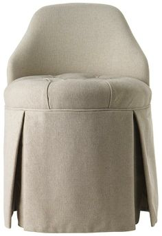 #HomeDecorators A Comfy Upolstered Chair For The Dressing Table   In A  Natural Linen Look