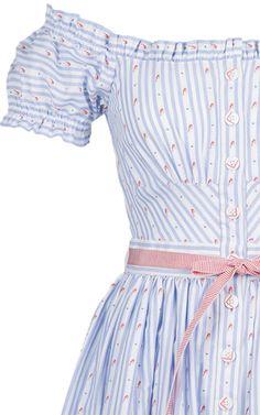 Skipper Shrimp Off The Shoulder Dress by Lena Hoschek | Moda Operandi