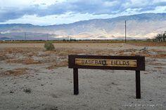 Baseball fields at Manzanar WW2 Relocation Camp, Owens Valley, CA.