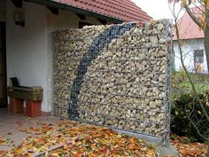 Image result for gabion retaining wall vines