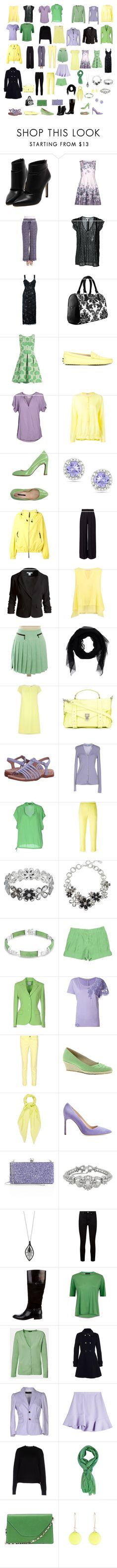 """""""Clear Winter Colors Complete Wardrobe"""" by shawnseepk ❤ liked on Polyvore featuring Yumi, Tommy Hilfiger, Joie, P.A.R.O.S.H., Tod's, Velvet by Graham & Spencer, D'AMBRA, Ice, Marni and Miss Selfridge"""