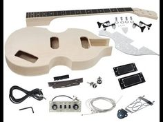 A selection of amazing left handed bass guitar kits available, build your own bass guitar from Solo Music Gear at an affordable price! Bass Guitar Kit, Guitar Chords, Ukulele, Beatles Bass, The Beatles, Left Handed Bass, Diy Guitar Amp, Bb Style, Solo Music