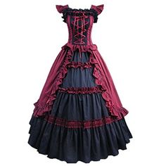 Cozy Age Women's Shortsleeve Ruffles Masquerade Gown Evening Prom Gothic Lolita Dress WineRed,X-Large Cozy Age http://www.amazon.com/dp/B00XKK28SO/ref=cm_sw_r_pi_dp_S4ykwb1YEA76B