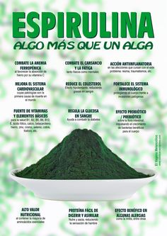 Espirulina, más propiedades que un político. Holistic Nutrition, Health And Nutrition, Health And Wellness, Health Fitness, Herbal Medicine, Natural Medicine, Get Healthy, Healthy Tips, Nutrilite