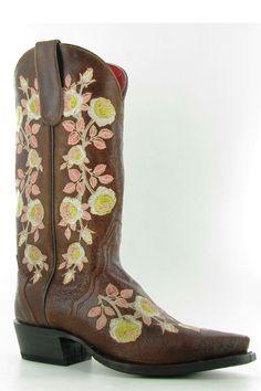 Macie Bean Yellow Rose Sweet Sixteen Cowgirl Boots $184.95