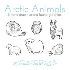 Hey, I found this really awesome Etsy listing at https://www.etsy.com/listing/293017901/cute-doodly-hand-drawn-arctic-animal