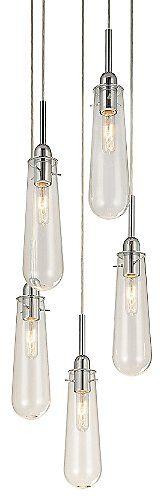 Electric tears from heaven, or so it appears. The Sonneman Teardrop Multi-Light Pendant features either Clear or White Opal etched glass shades, two choices that allow a classic or more contemporary look for the dining room. Available with 3, 5 or 8 lights depending on the size of the room or simply how grand of a statement is desired.