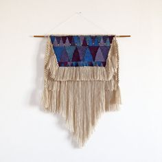 ONLY A PAPER MOON  **SV32** Size : M  Weaving wall hanging entirely made of natural fibers, wool, cotton and merino.  Colours : beige, shades