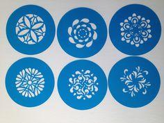 circular designs  cookie cupcake stencils , cake stencils set of 6 by Stenciland on Etsy https://www.etsy.com/listing/182305411/circular-designs-cookie-cupcake-stencils