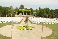 Ceremony set-up at Bluestem Vineyard!