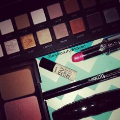 Makeup of the day.  #makeup #motd #fotd #makeupmess #makeupporn #lorac #loracpro #propalette #elf #blush #bronzer #loreal #lipstick #benefit #rimmel #rimmellondon #scandaleyes #liquidliner #sephora #mascara
