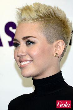 US-Sängerin Miley Cyrus liebt den Undercut: Die abrasierten Seiten unterstreichen ihr rockiges Image und schließen das Hannah-Montana-Kapitel endgültig ab